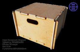 Сборный ящик деревянный. А_380x380x253_R