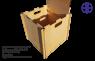 Сборный ящик деревянный. А_380x380x380_R