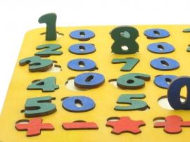 Цифры пазл из фанеры.