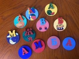 """""""Моя азбука"""" нарисуй свою азбуку на деревянных магнитах."""
