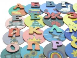 Купить азбуку для детей магнитную на холодильник. Учим буквы учимся читать.