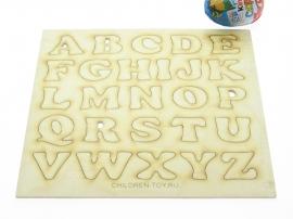 Купить набор деревянных Английских букв для создания магнитной азбуки на холодильник для творчества для декупажа для декорирования.