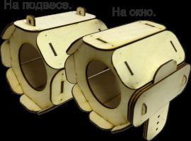 Смотреть цены на деревянные заготовки кормушки птиц Туба Купить в интернет магазине производителя Шоп Чилдрен Той для сборки своими руками.