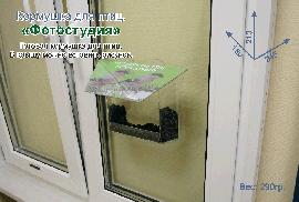 """Кормушка для птиц на окно. """"Фотостудия"""" - на присосках. Прозрачная кормушка птиц."""