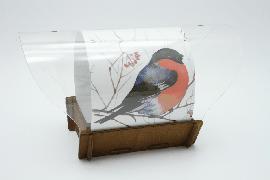 """Авторская кормушка для птиц """"Сытый Снегирь"""""""