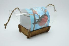 """Авторская кормушка для птиц """"Снегирь на рябине"""""""