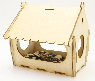 """Сборная кормушка птиц. Упаковка для подарка. """"Универсальная"""""""