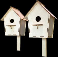 Сборный домик для птиц. Трясогузочник малый. (л25)
