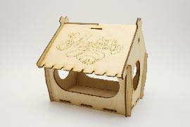 Кормушка для птиц упаковка для сладкого подарка. Домик для детского творчества. Смотреть цены на деревянные заготовки кормушки птиц 8 марта Купить в интернет магазине производителя Шоп Чилдрен Той для сборки своими руками.
