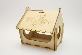 Сладкий подарок ребенку. Кормушка для птиц коробка упаковка.