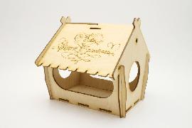 Кормушка для птиц упаковка для сладкого подарка. Домик для детского творчества.