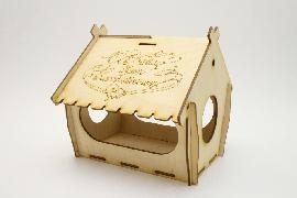 Кормушка для птиц упаковка для сладкого подарка. Домик для детского творчества. Смотреть цены на деревянные заготовки кормушки птиц С Днём Всех Влюблённых Купить в интернет магазине производителя Шоп Чилдрен Той для сборки своими руками.